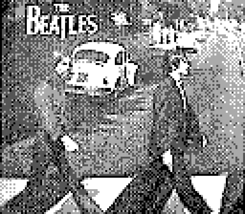 The Beatles Cover - Shot on a GameBoy Camera